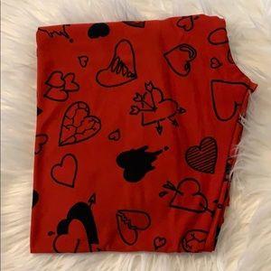 Lularoe Valentine's Day leggings OS